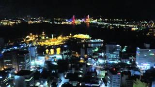 釜山タワーから見た夜景