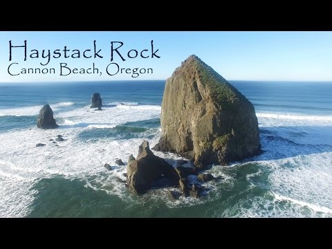 Haystack Rock Fly-Around - Cannon Beach, Oregon