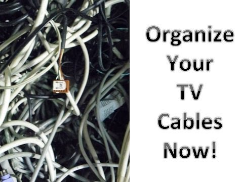 FREE (not tacky!) TV Wire/Cord Organization