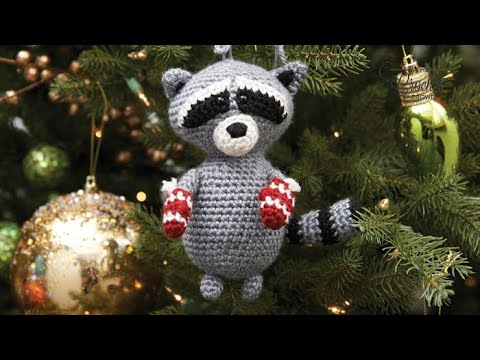 Easy Christmas Amigurumi : How to crochet a raccoon: christmas raccoon amigurumi youtube