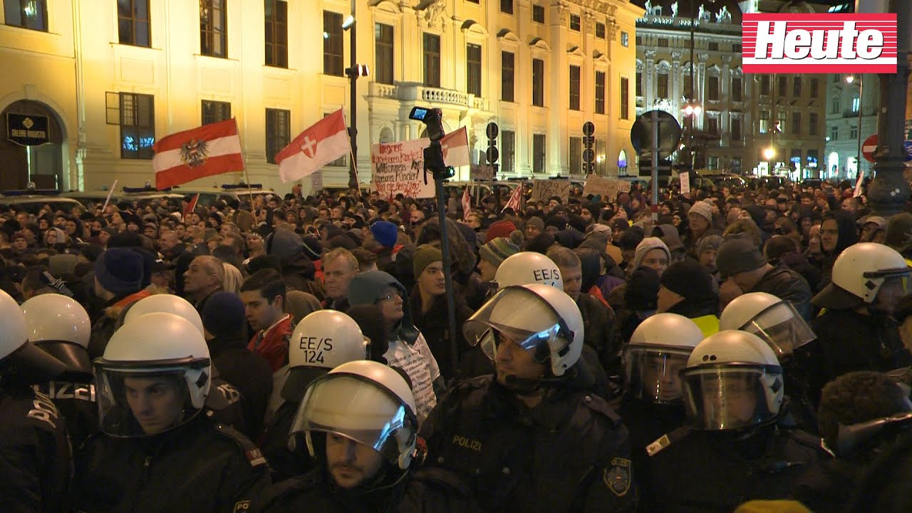 Demo Freitag Wien: Pegida-Demo Wien (2.2.2015)
