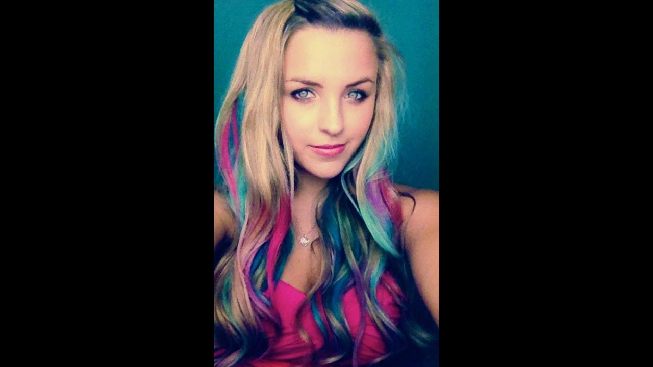Colorful Hair for Spring without Dye! - YouTube