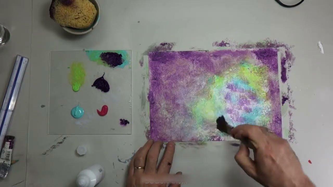 test et pr sentation de mat riel de peinture acrylique vernis colle paillet youtube. Black Bedroom Furniture Sets. Home Design Ideas