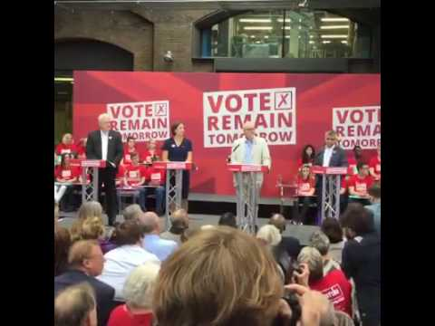 Labour campaigning to Remain in the European Union. 22 June 2016