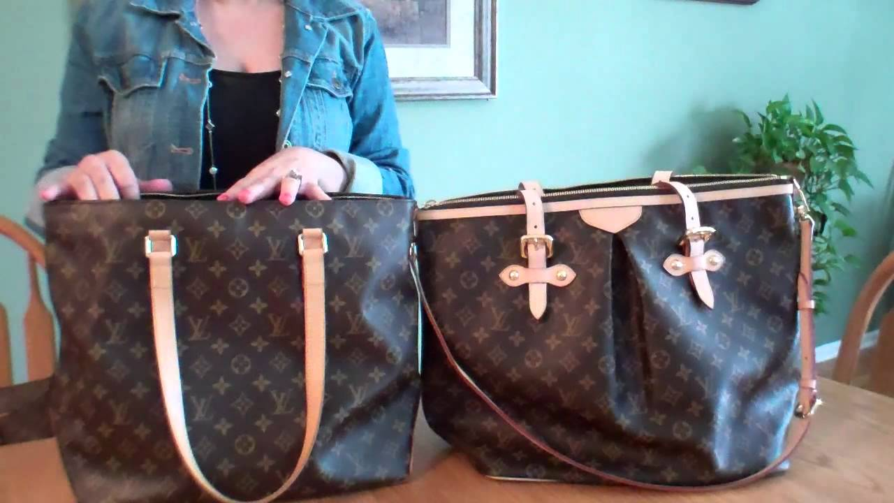 c5cf7fb22913 Louis Vuitton Palermo GM   Cabas Mezzo Bag Comparison - YouTube