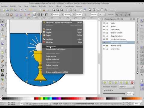 Como dibujar escudos en Inkscape para Wikipedia