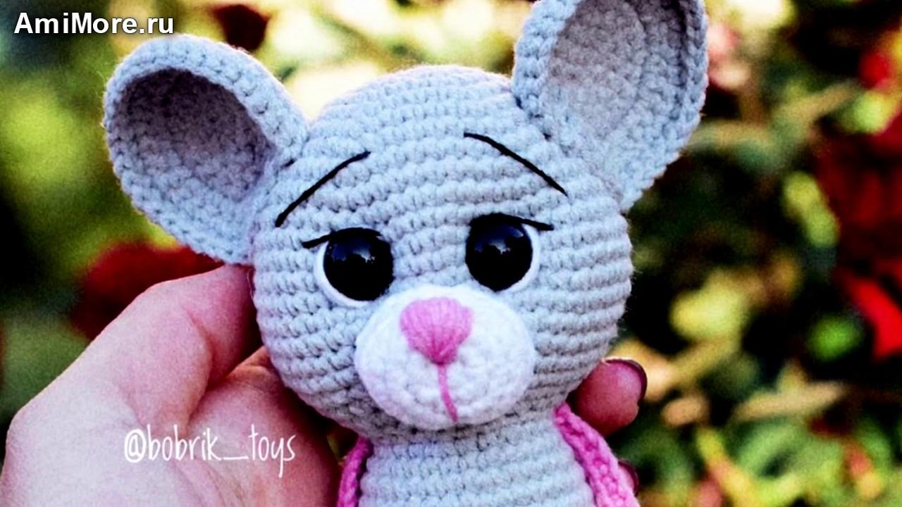 Амигуруми: схема Мышка Погремушка. Игрушки вязаные крючком - Free crochet patterns.