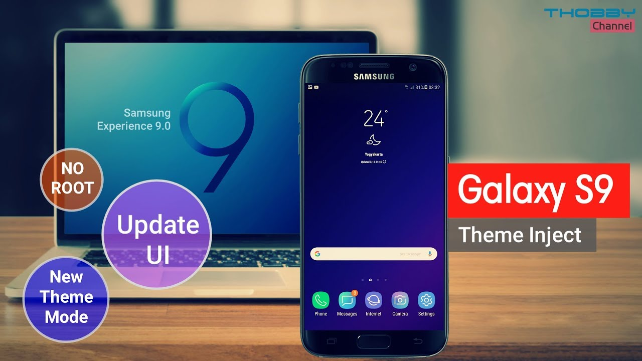 Galaxy S9 Theme Inject Samsung Experience 9 0 Update No Root