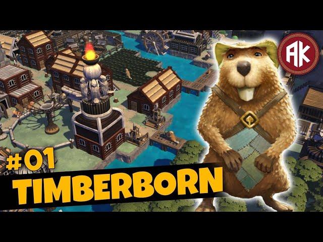 CONSTRUIA uma VILA de CASTORES! - EP01 - Timberborn