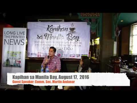 August 17, Kapihan sa Manila Bay