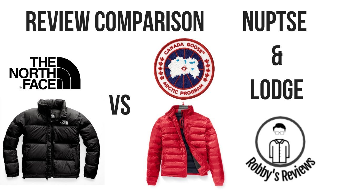 a5a52cbfb $180 North Face Nuptse vs $525 Canada Goose Lodge Jacket