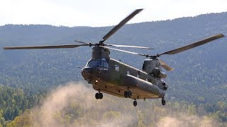 CH 147F CH 47 Chinook Landing World 39 s Fastest Military Helicopter