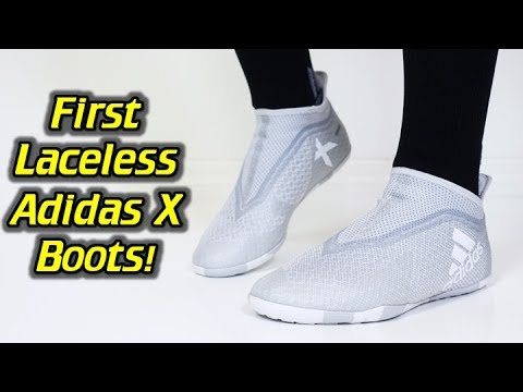 Laceless Adidas X Tango 17+ PURESPEED Indoor (Dust Storm Pack) One Take Review + On Feet