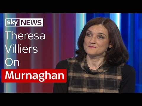 Northern Ireland Secretary Theresa Villiers On Irish Border Control