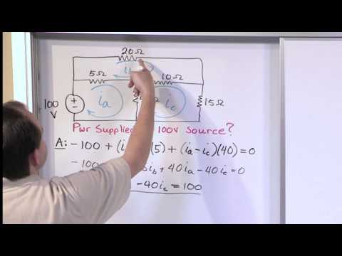 Mesh Current Problems in Circuit Analysis - Electrical Circuits Crash Course - Beginners Electronics