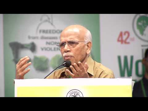 IVU 42nd world veg fest at chennai - Dr. Hegde speech