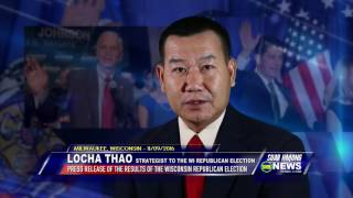 SUAB HMONG NEWS: Locha Thao thanks the Wisconsin Hmong Community for getting out and voted