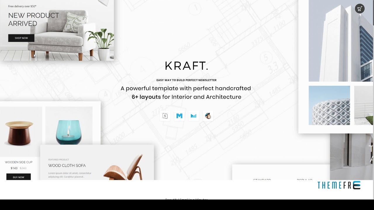 Kraft Email Template For Interior Design And Architecture