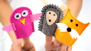 DIY finger puppet animals show