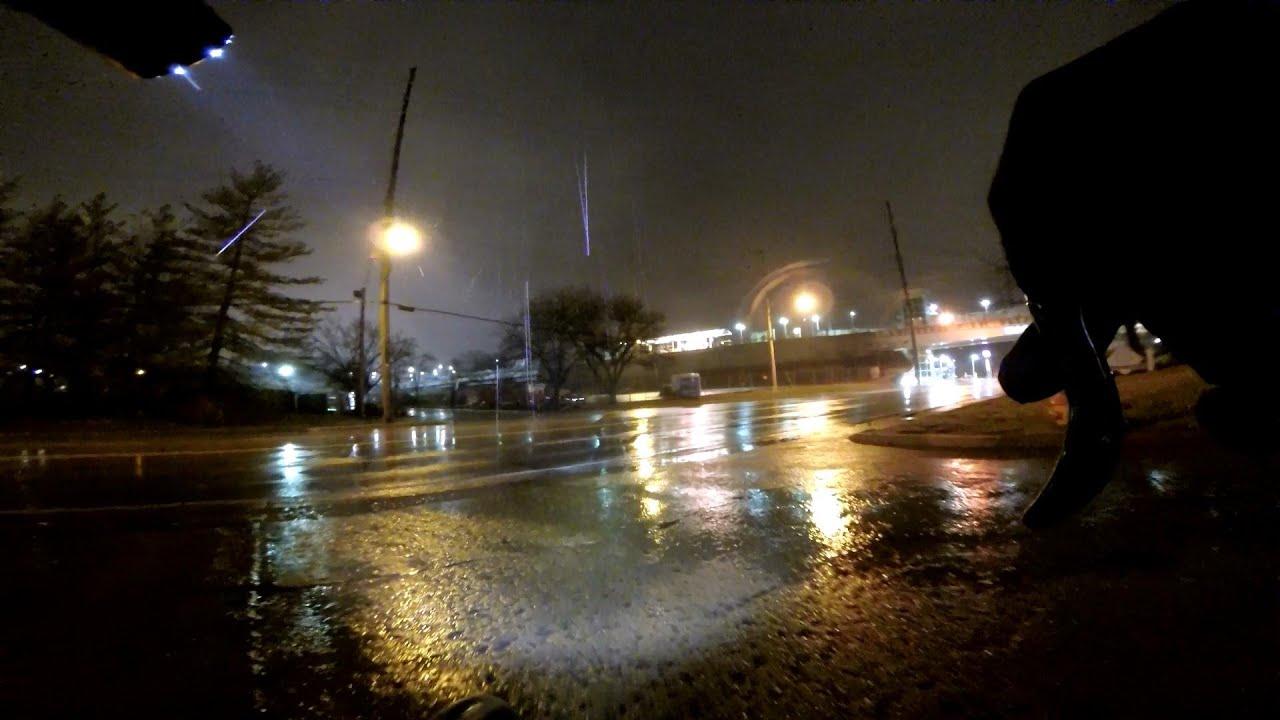 rainy day rainy night city cycling commute clip show bike