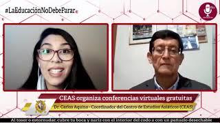 Tema: CEAS organiza ciclo de conferencias virtuales gratuitas