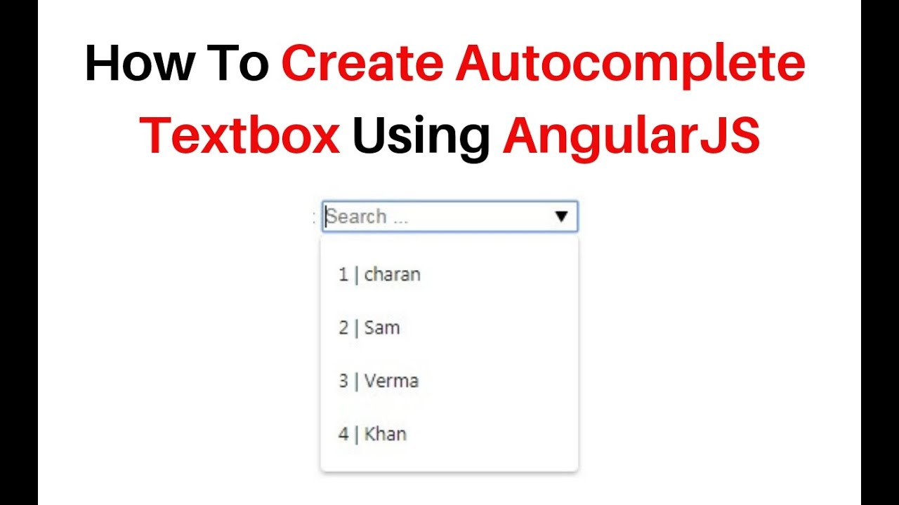 Autocomplete angularjs example