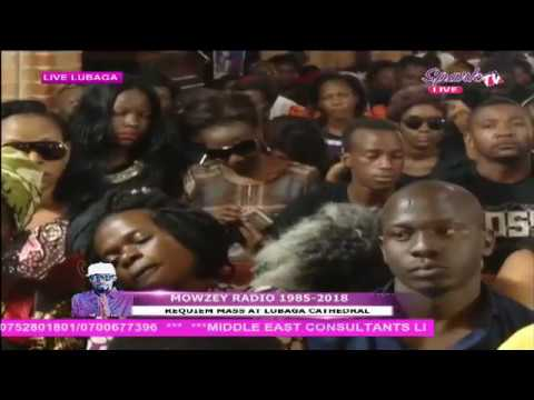 Artist Mowzey Radio's Requiem mass at Lubaga Cathedral