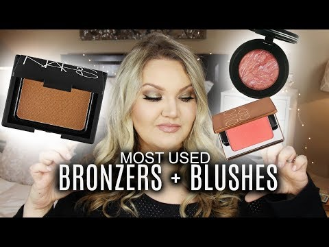 MOST USED BRONZERS + BLUSHES | 2017 FAVORITES