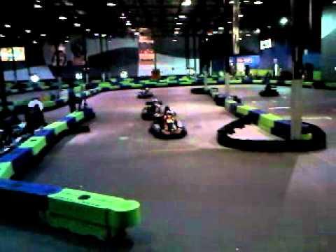 Go Karts Atlanta >> Kyle and Cole racing go karts at Andretti speed lab - YouTube