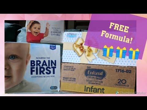 UNBOXING Free Formula!   Similac, Enfamil, Enspire, Enfagrow & More!