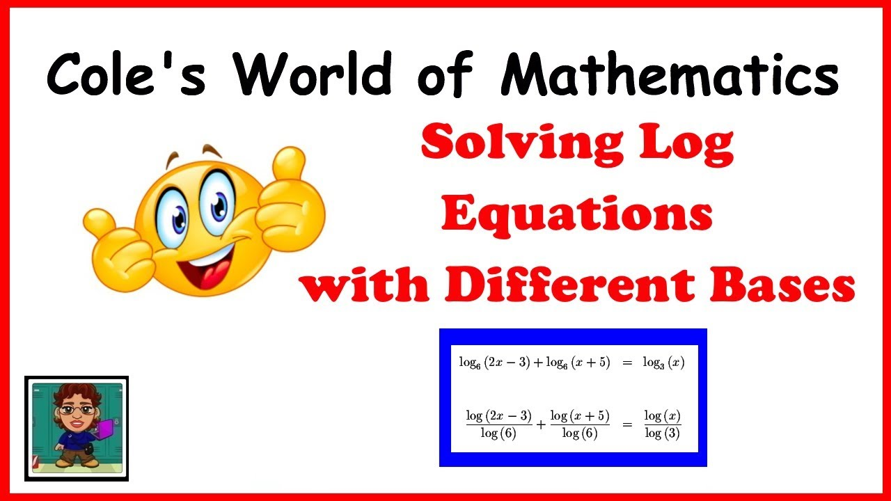 how to solve log equations with different bases