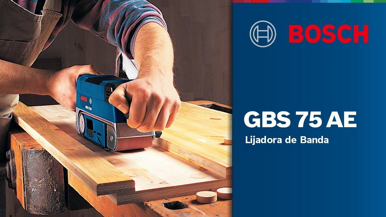 Bosch Professional Lijadora de banda GBS 75 AE Set Professional azul