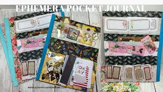 scrapbookingwithme #journals #pocketjournals This is the start of our Ephemera Album. We hope to have this completed by tomorrow. Play list: ...
