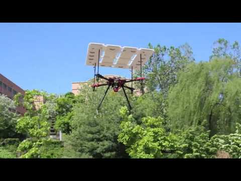 solar cell powered drone