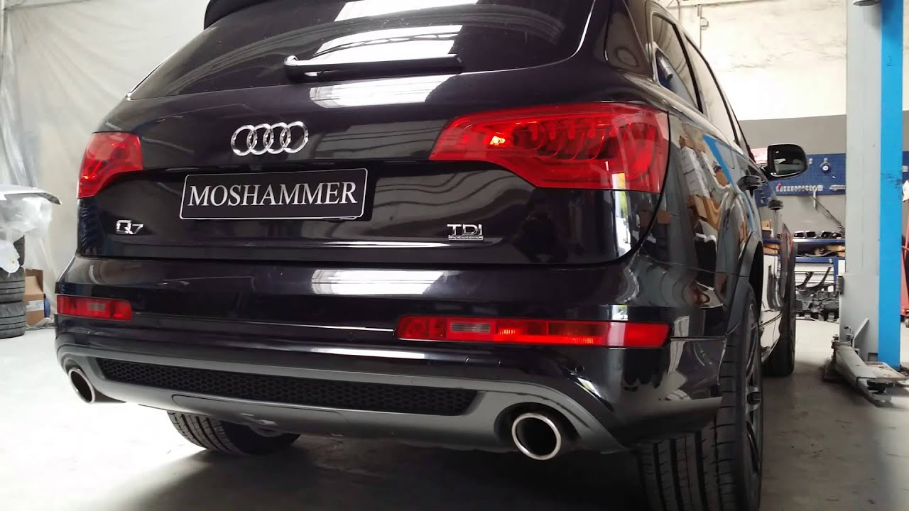 Audi Q7 42TDI MOSHAMMER Brutal V12 Diesel Sound Concept  YouTube