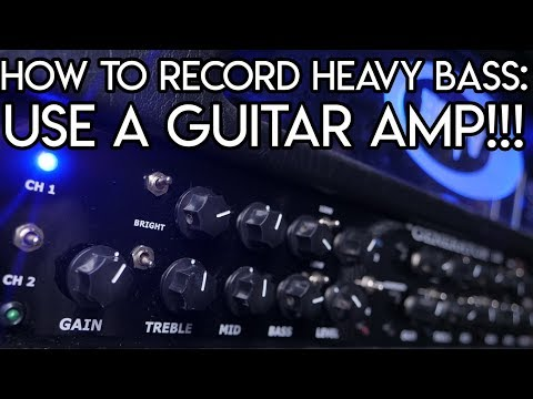 How to Record Heavy Bass - Plug in into a GUITAR AMP! | SpectreSoundStudios TUTORIAL