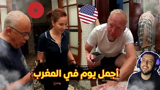أمريكي محجوز في المغرب قضى أجواء عيد الأضحى مع عائلة في مكناس و قالهم أنو أجمل يوم في المغرب