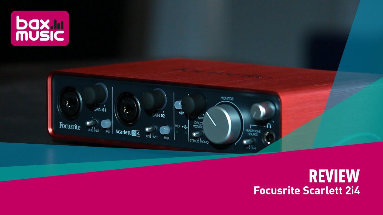focusrite scarlett 2i4 usb audio interface review youtube. Black Bedroom Furniture Sets. Home Design Ideas