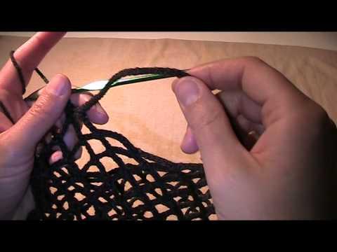 Anleitung und Vorlage – Einkaufsnetz häkeln Teil 2