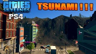 Cities Skylines PS4 Edition Tsunami City, Flood Town. No Disaster Expansion? No Problem.