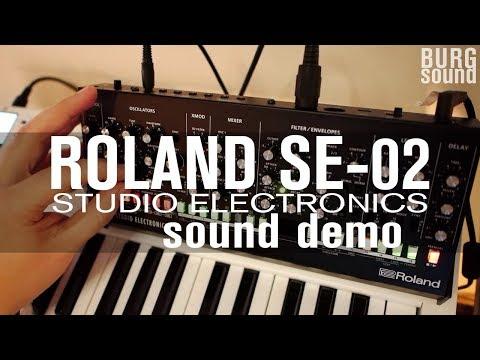 Roland boutique SE-02 (studio electronics) sound demo