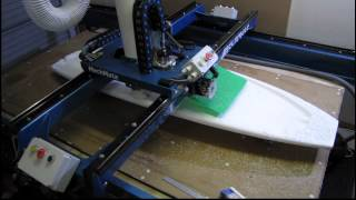Machine Shaping a 6 Foot 4 Inch Swallow Tail Surfboard.mp4