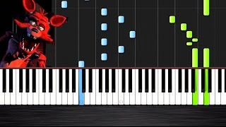 Five Nights at Freddy s 3 Song Die In A Fire Piano Cover Tutorial by PlutaX Synthesia