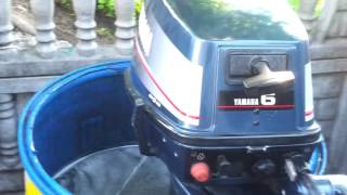 1988 Yamaha 6 hp outboard motor 2 stroke (dwusuw)