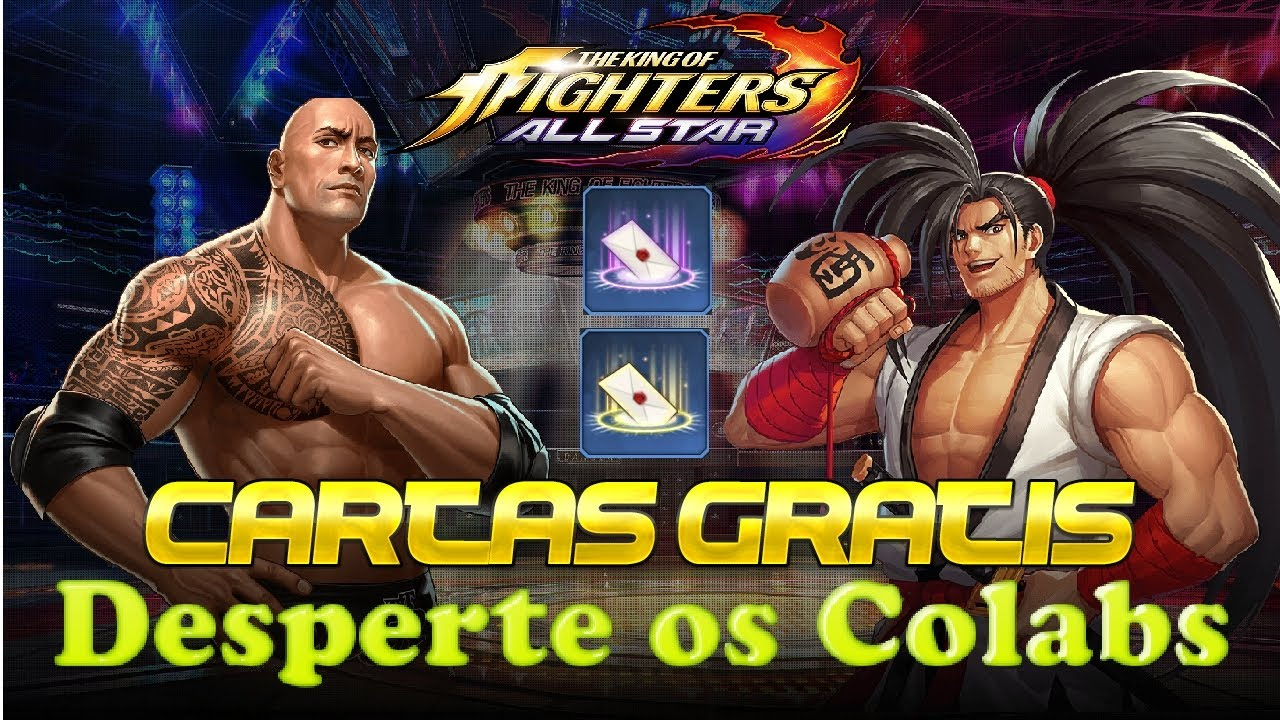 Cartas de despertar Colab grátis The King of Fighters ALLSTAR