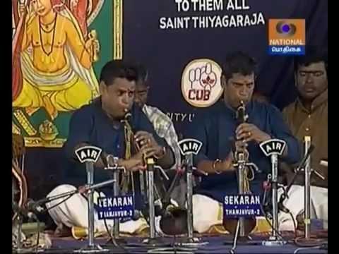 Mannargudy M.S.K.Sankaranarayanan Bros Nadaswaram -165th Thyagaraja Aradhana -Courtesy Podhigai TV