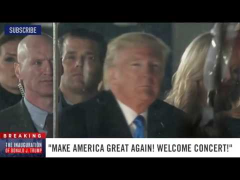 Extreme metal band play for Trump