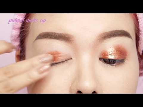 แต่งตาใช้อายแชโดว์สีเดียว Beginners makeup using ONE Eyeshadow for asian eyes l puinuii make up