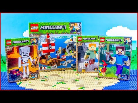 COMPILATION LEGO MINECRAFT All New Winter Sets For Collectors- UNBOXING