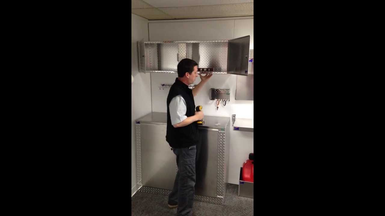 Cabinets For Cargo Trailers How To Install 4 Ft Trailer Overhead Cabinet Trailercabinetpros